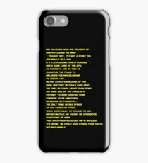 The Tragedy of Darth Plagueis the Wise iPhone Case/Skin