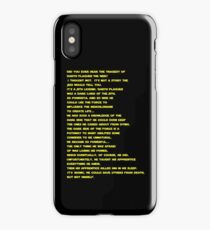 The Tragedy of Darth Plagueis the Wise iPhone Case