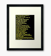 The Tragedy of Darth Plagueis the Wise Framed Print