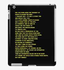 The Tragedy of Darth Plagueis the Wise iPad Case/Skin