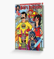 Bobs Burgers Comic Book Cover  Greeting Card