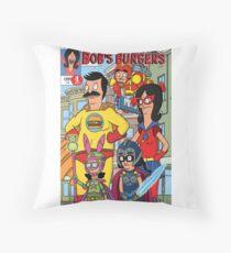 Bobs Burgers Comic Book Cover  Throw Pillow