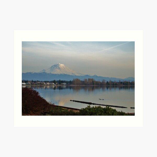 Mt. Rainier in Spring Art Print