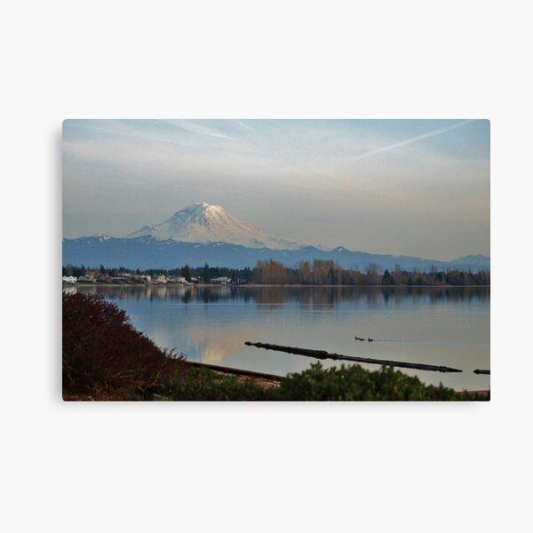 Mt. Rainier in Spring Canvas Print