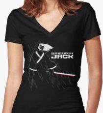 Samurai Jack  Women's Fitted V-Neck T-Shirt