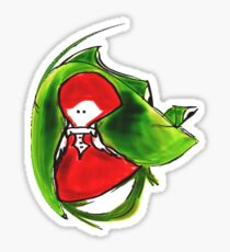 Girl and frog Sticker