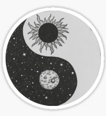 Sun & Moon Yin Yang Sticker