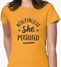 Nevertheless, She Persisted Women's Fitted T-Shirt