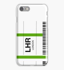Airline luggage label - LHR iPhone Case/Skin