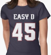 Easy D Jersey (White Type) Women's Fitted T-Shirt