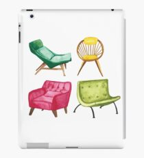 Mid Century Modern Chairs Watercolor iPad Case/Skin