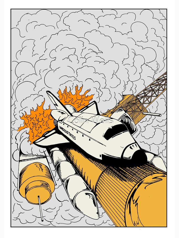 Shuttle Launch by mrdenmac