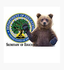 Secretary of Education: Grizzly Bear Photographic Print