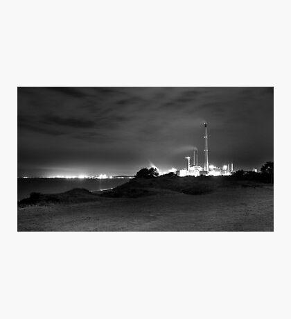 Kwinana Power Station At Night (B&W)  Photographic Print