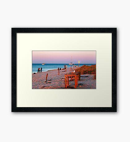 Monkey Mia Beach At Sunset  Framed Print