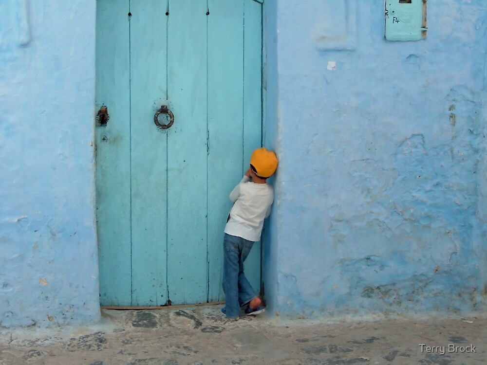 Chefchaouen Shyness by Terry Brock