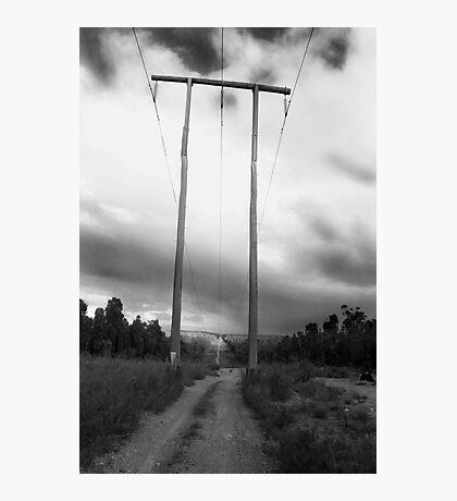 Powerlines Track Photographic Print