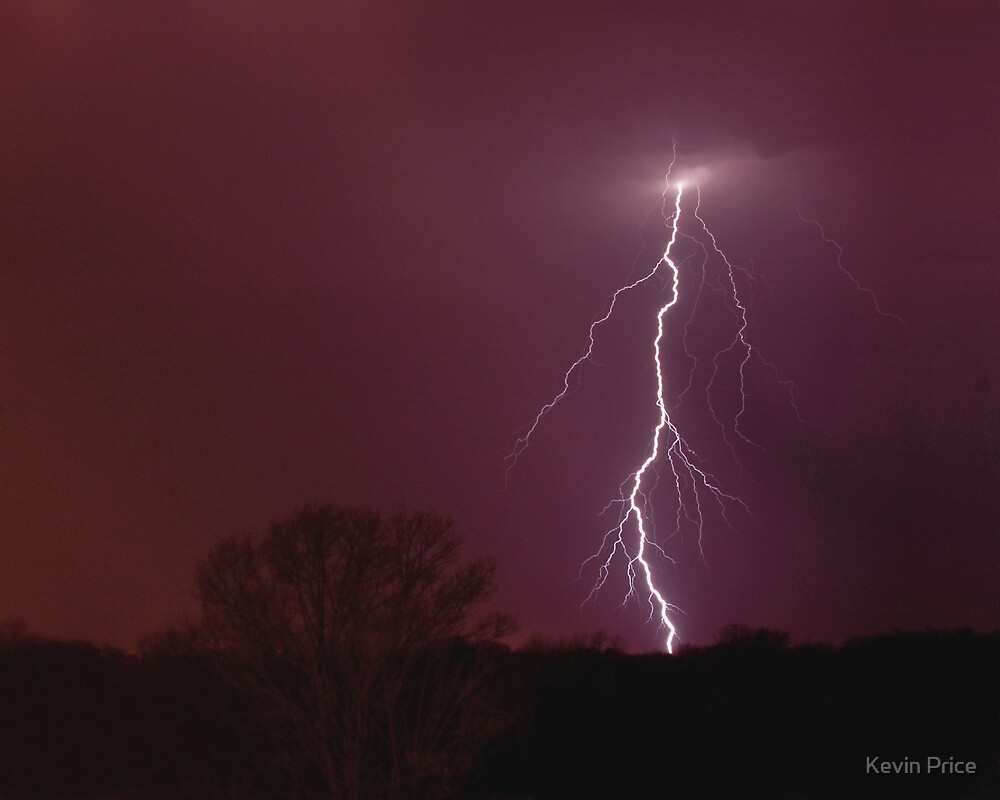 lightning highlighting the sky by Kevin Price