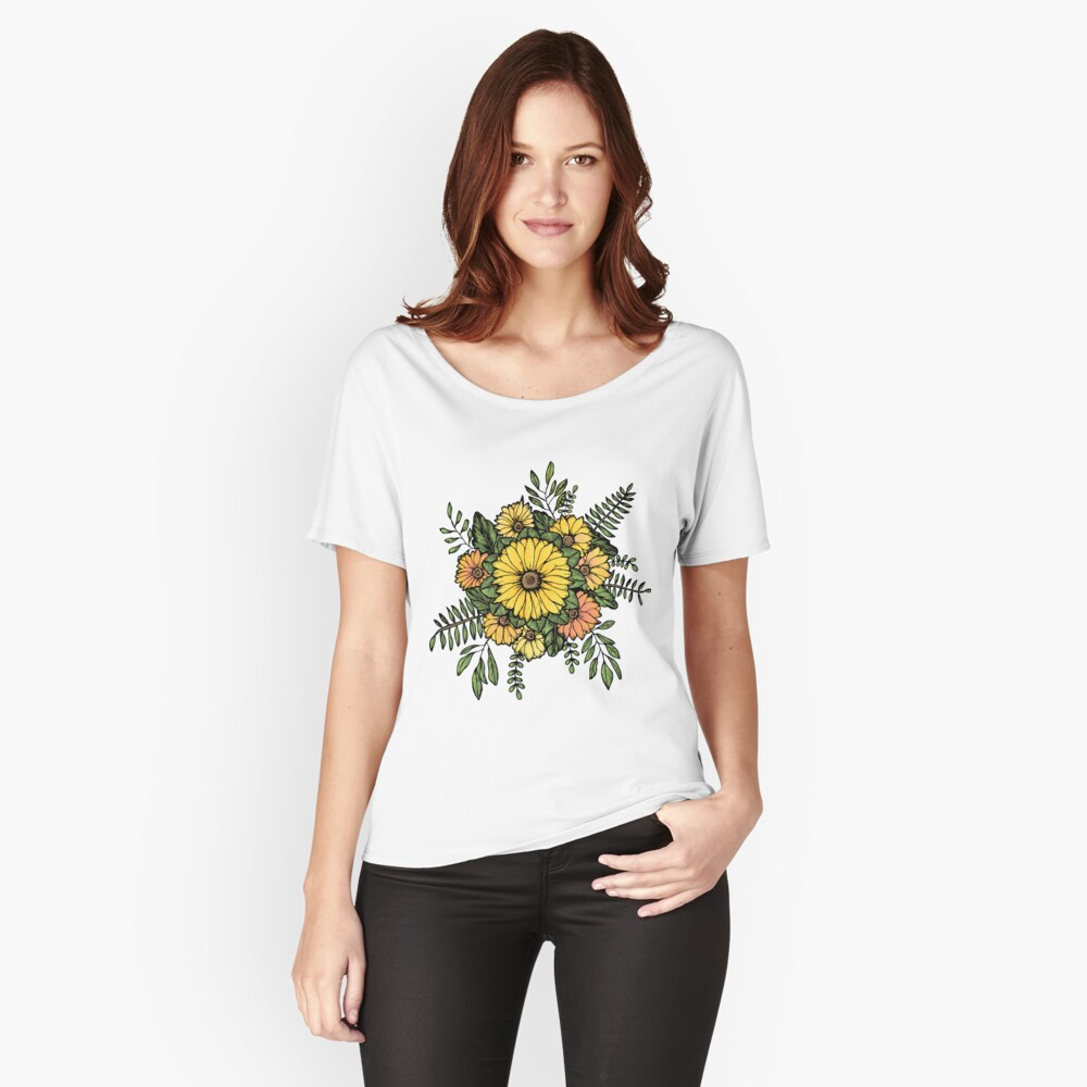 SUNFLOWERS Relaxed Fit T-Shirt