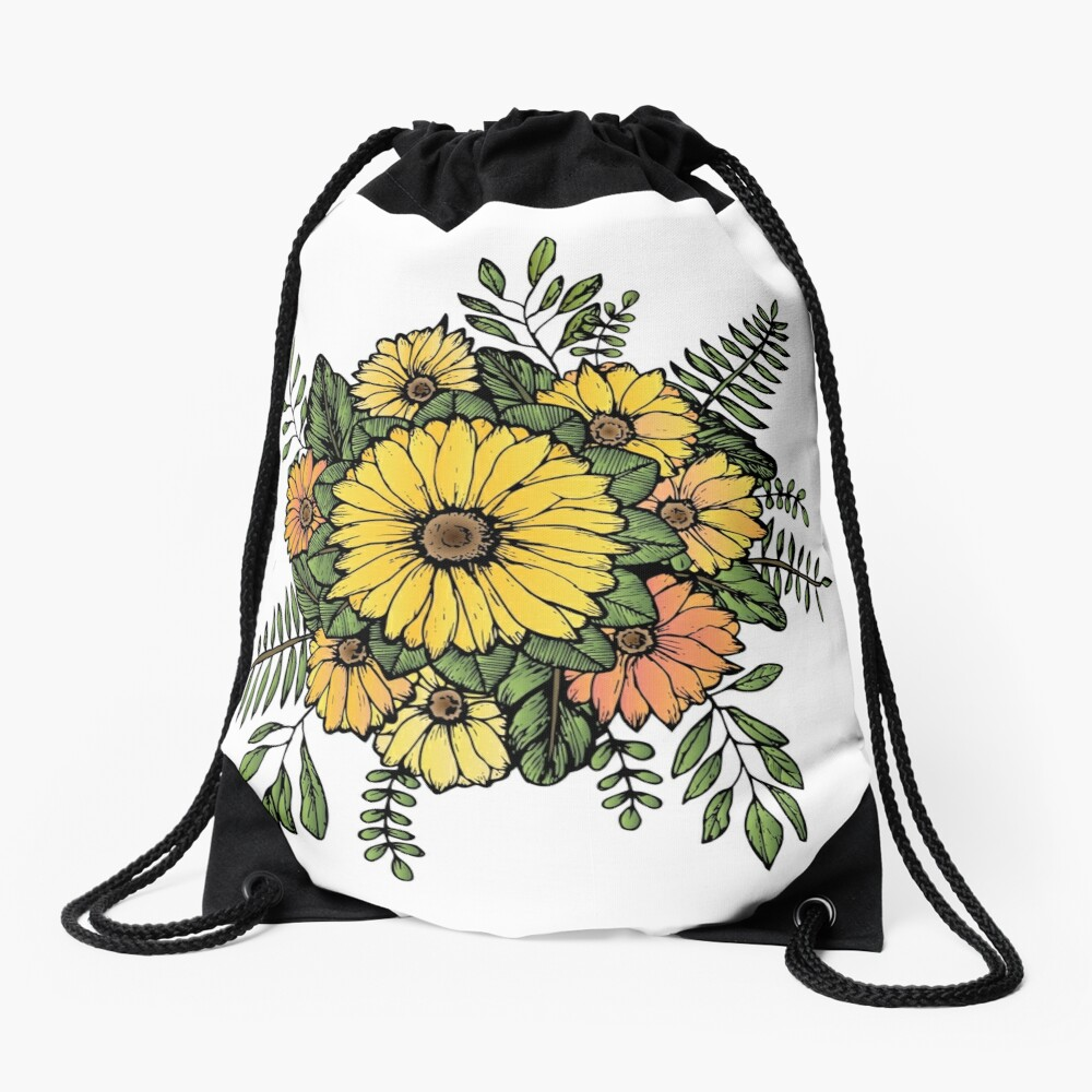 SUNFLOWERS Drawstring Bag