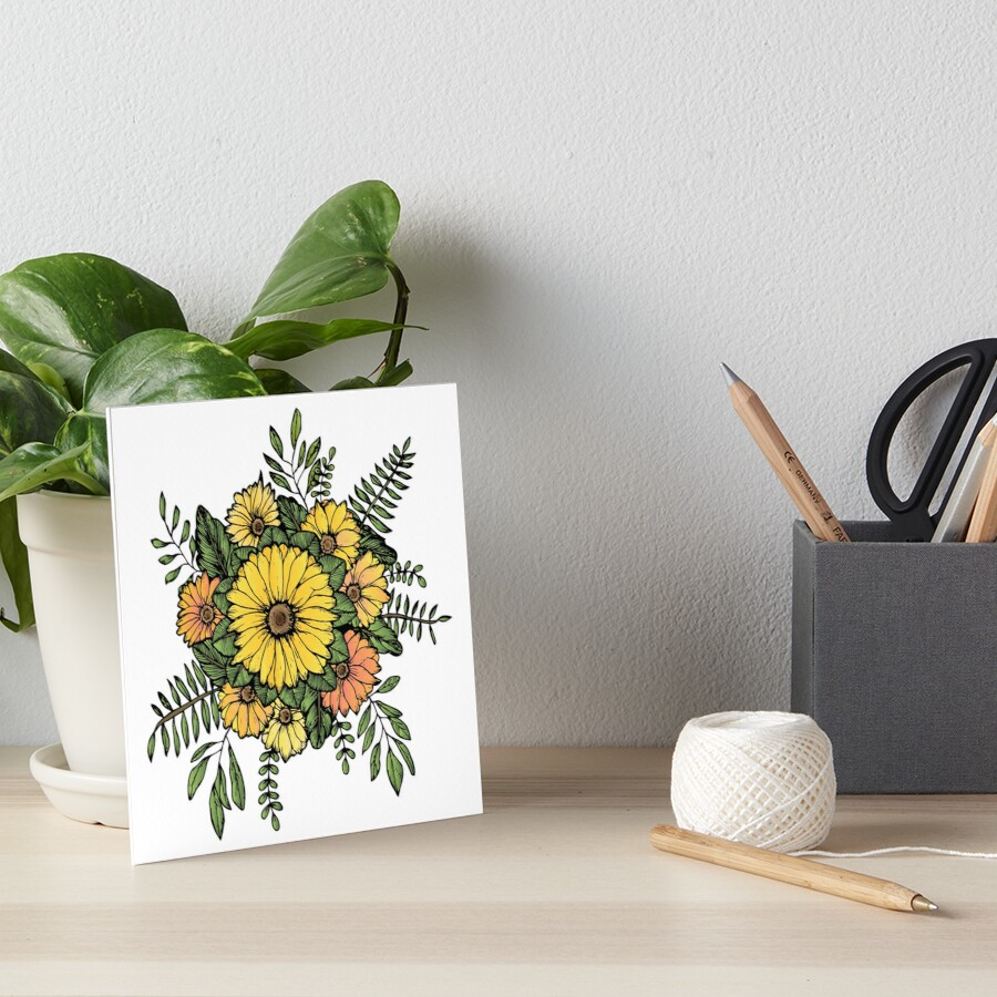 SUNFLOWERS Art Board Print