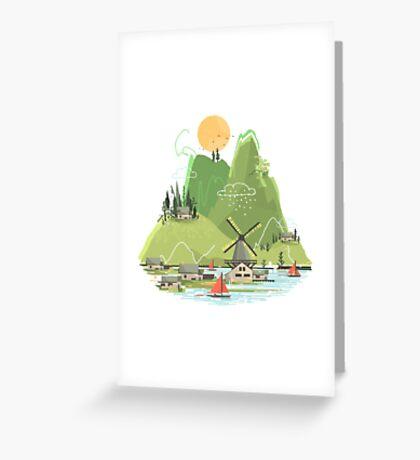 Glitchscape Greeting Card