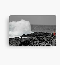 Man and Nature Come together as one. Canvas Print