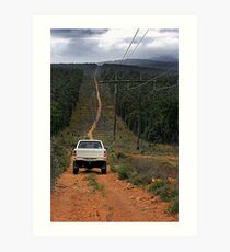 Driving The Powerlines Track Art Print