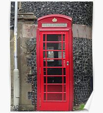 Telephone Booth in England Poster
