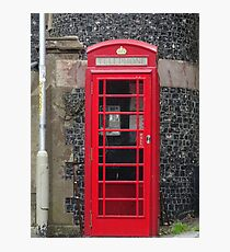 Telephone Booth in England Photographic Print