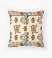 Eagle, Ocelot, Shield Throw Pillow