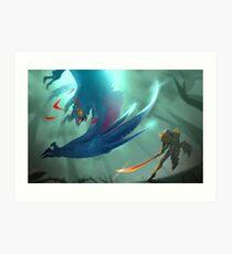 Nargacuga Hunt [Monster Hunter] Art Print
