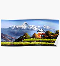 Panoramic View Of Beautiful Everest Mountain Poster
