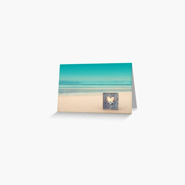 Beach Remembrance Candle Greeting Card