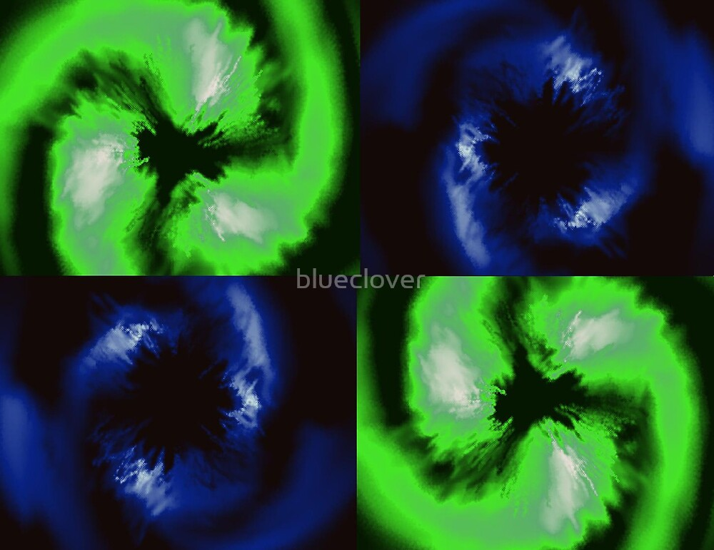 Blue and Green Swirls by blueclover