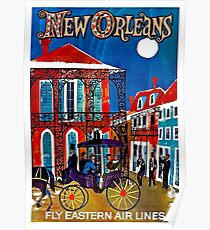 EASTERN AIRLINES; Fly to New Orleans Advertising Print Poster