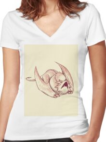 Little Smaug - Dragon on paper Women's Fitted V-Neck T-Shirt