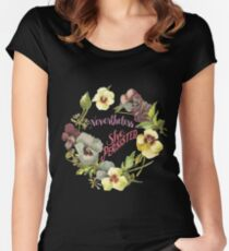 She Persisted (Floral Design) Women's Fitted Scoop T-Shirt
