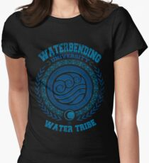 Waterbending university Women's Fitted T-Shirt