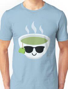 Green Tea Emoji Cool Sunglasses Unisex T-Shirt