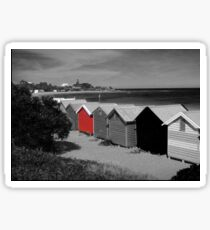 Brighton Beach Bathing Boxes - Victoria - Australia Sticker