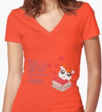 Pure Love Women's Fitted V-Neck T-Shirt