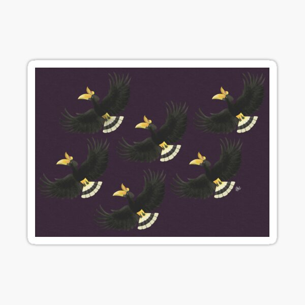 Animals of Malaysia - Rhinoceros Hornbill Sticker