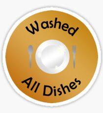 Adulting Merit Badge - Chores - Dish Washing Sticker