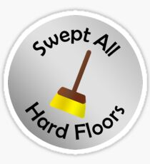 Adulting Merit Badge - Chores - Sweeping Sticker