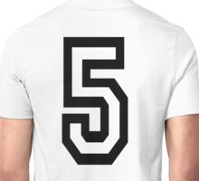 5, TEAM, SPORTS, NUMBER 5, FIFTH, FIVE, Competition,  Unisex T-Shirt