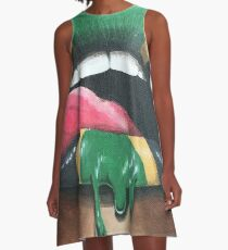 Jamaica Lips A-Line Dress