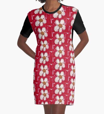 Note Flower Graphic T-Shirt Dress