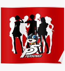 Persona 5 protagonist silhouette Poster