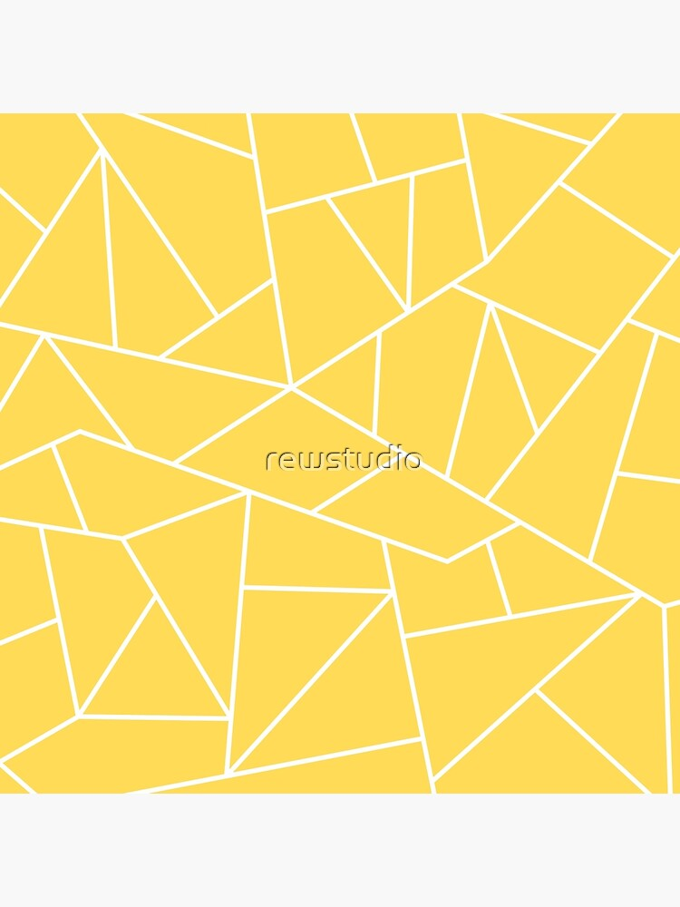 Mustard Yellow White Mosaic Lines by rewstudio